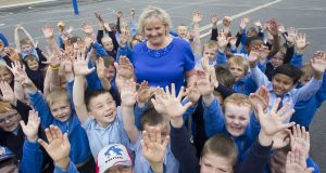 Noeleen Condron, who is retiring after 12 years as an SNA in St Joseph's NS in Carlow Pic: Michael O'Rourke