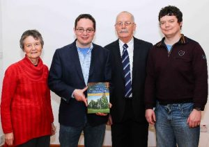 The Lyttleton family: Philomena, James, the author, Gerard and Tomás