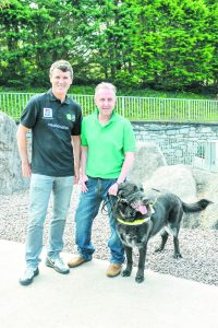 Graiguecullen guide dog owner Tomas Scully and his guide dog Quaker met Roy Keane at Irish Guide Dogs headquarters for the launch of the Guide Dog Day campaign, which takes place on Friday 1 May