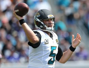 Blake Bortles will hope to power the Jacksonville Jaguars to victory at Wembley this weekend