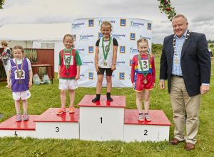 063a6857eeaffd Medalists in the girls U6 80m final were (1st) Isabella Cooper from  Ballon Rathoe